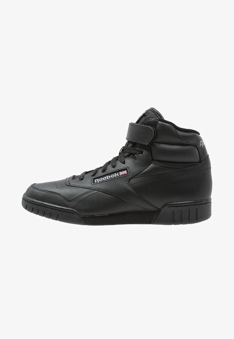 reebok black high top sneakers
